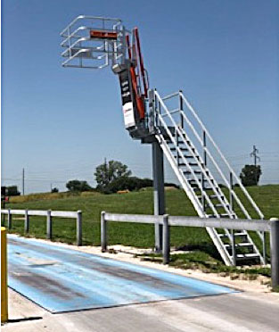 Single Hatch Access Platform with Gangway