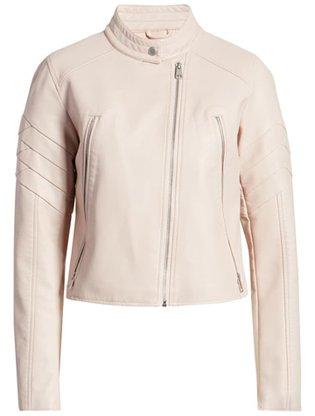 Levi's leather moto jacket | 40plusstyle.com