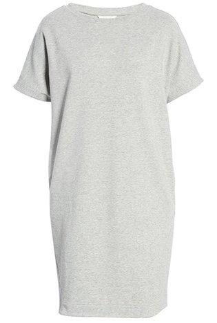 Vestidos de verano para mujeres mayores de 50 años -Vestido estilo camiseta con cuello redondo Caslon    40plusstyle.com