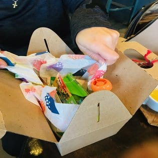 unboxing snack box