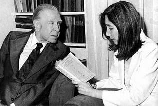 Jorge Luis Borges y Maria Kodama