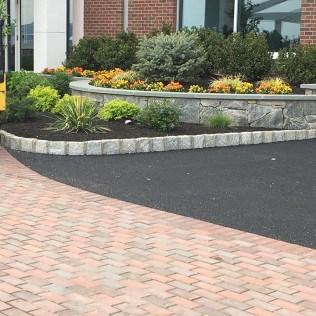 Stone and asphalt driveway