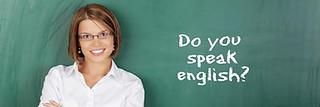 Profesora de inglés en un aula