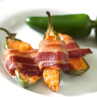 Bacon Wrapped Stuffed Jalapenos