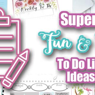 Super Fun and Cute To Do List Ideas