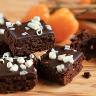 a stack of habanero brownies