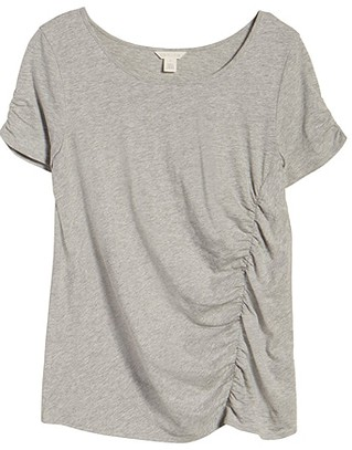 Summer essentials - Caslon ruched knit t-shirt | 40plusstyle.com