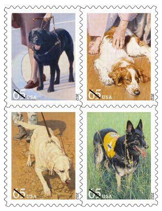 Dog Postage Stamps