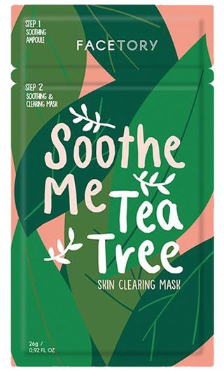 FaceTory Soothe Me Tea Tree 2-Step Sheet Mask | 40plusstyle.com