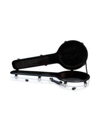 New Superior CF-1530W Fiberglass Resonator Banjo Case White