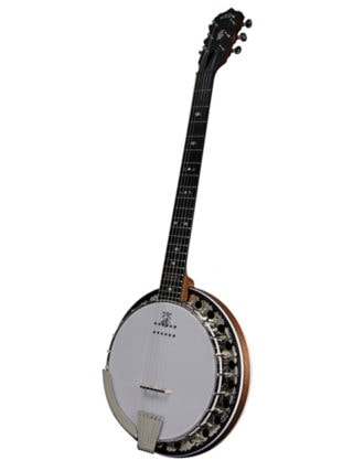 deering boston 6 string acoustic electric banjo