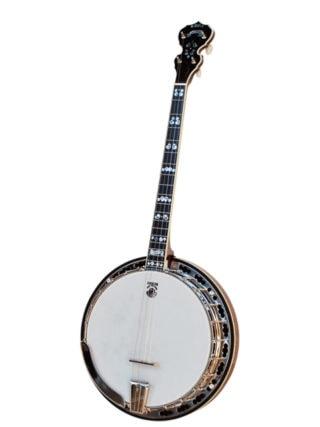 deering calico 19 fret tenor banjo