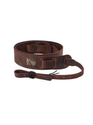 deering rustic leather banjo strap