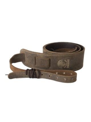 deering stitched leather banjo strap