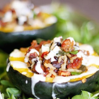 Sausage and Rice Stuffed Acorn Squash Featured Image