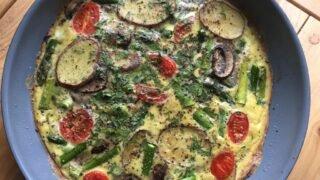 Asparagus Mushroom Frittata (Paleo, Whole30, Gluten Free)