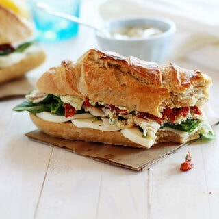Turkey Sandwich with Artichokes and Sun Dried Tomatoes