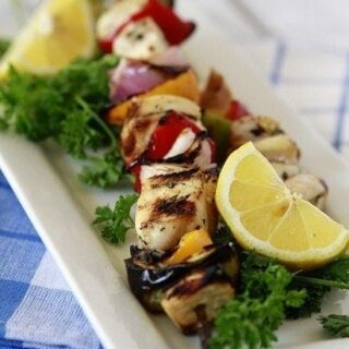 Grilled Citrus Chicken Kebabs