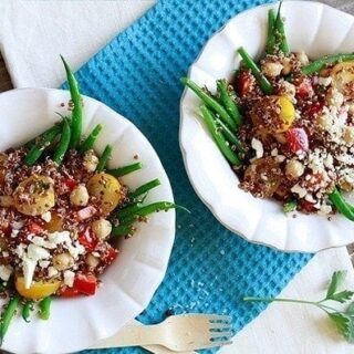 Quinoa Salad with Haricot Verts and Shallot Lemon Dijion Dressing