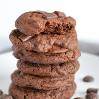Half Batch Triple Chocolate Chip Cookies makes only a dozen and a half cookies.