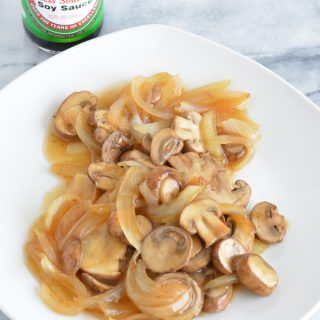 Top over your steak or beef entree with these meaty saucy mushrooms and onions.
