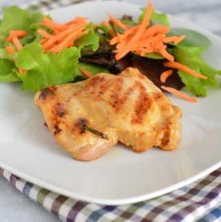 Grilled Maple Dijon Chicken Thighs