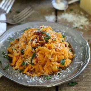 Spicy Sweet Potato Carbonara
