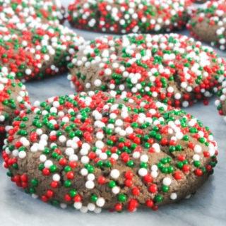 Chocolate Peppermint Sprinkle Cookies