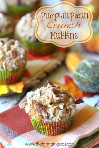 Pumpkin Pecan Crunch Muffins are there perfect snack recipe for anytime of day. Grab one for breakfast, too.