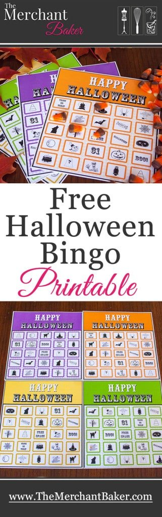 photo about 25 Printable Halloween Bingo Cards named Cost-free Halloween Bingo Obtain! - The Service provider Baker