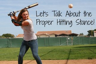 girls softball hitting stance