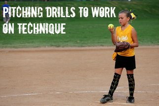 pitching softball drills