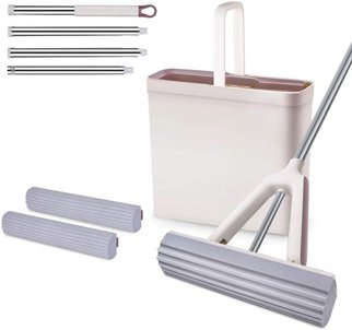 Moosoo Sponge Mop And Bucket Set