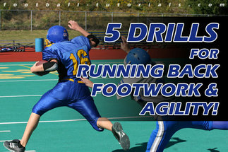 RUNNING BACK FOOTWORK 5 DRILLS