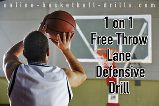 1 on 1 free throw lane defensive drill