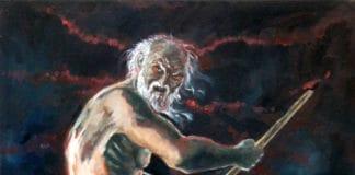 Un vecchio, bianco per antico pelo