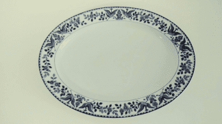 "Nippon ""Royal Sometuke"" Large Serving Platter"