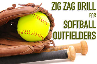 softball outfielders zig zag drill
