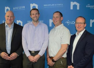 Neigbourlys new management appointments Simon Matthews Matthew Sleath Chris Mitchell Iain Stockdale Smith left to right