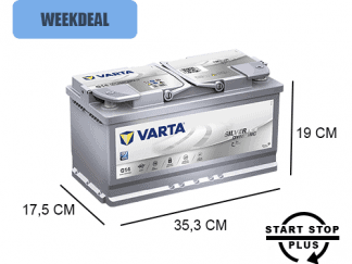 G14 Varta start-stop accu 95ah AGM Silver Dynamic 595901085