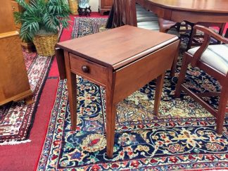 Custom Made Cherry Drop Leaf Side Table