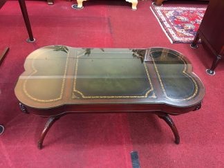 Vintage Leather Top Coffee Table