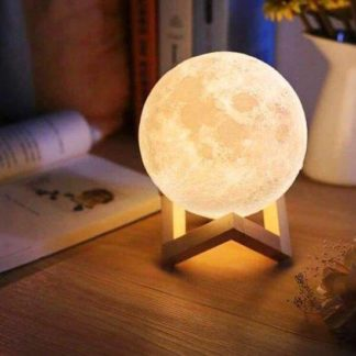 Galaxdream Moon lamp light for home decor, the perfect gift for children. 16 colors light 3D printed moon lamp.