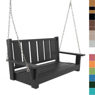 Double Bench Porch Swing - multicolored blocks