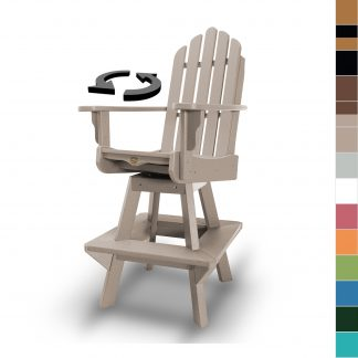 DWHDSWVC1-K- Swivel High Dining Chair