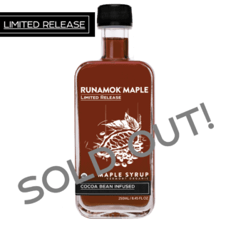 Cocoa Bean Infused Maple Syrup by Runamok