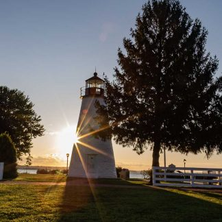 Concord Point Lighthouse, Nighttime with partial moon