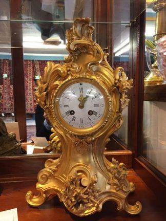 antique rococo clock