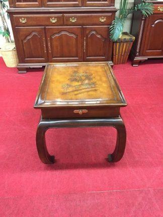 bernhardt oriental style end table