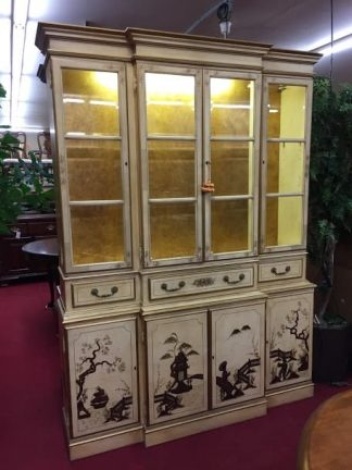 Cream and Gold Chinoiserie Cabinet